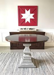 diy wood pedestal table base build