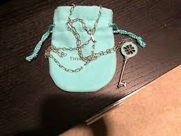 tiffany co knot key pendant enamel