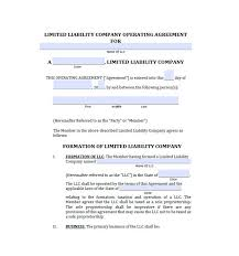 template for llc operating agreement operating agreement template template business