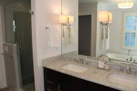 large mirrors for bathroom. Black Wooden L Shaped Bathroom Vanity With Large Mirror Plus Double Square Under Mount Sink On White Wall Mirrors For E