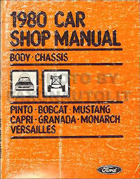 1980 ford pinto and mercury bobcat foldout wiring diagrams original related items