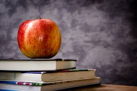 Image result for apple with books