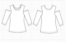 Free Sewing Patterns Online Inspiration TECHNICAL DRAWING On The Cutting Floor Printable Pdf Sewing
