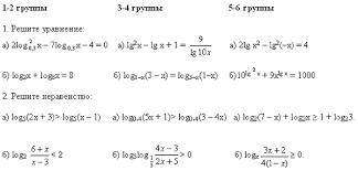 Конспект урока по алгебре и началам анализа по теме  Ответы записаны на развороте доски и открываются учителем для самопроверки по окончании работы 1 тетрадь от группы сдается учителю для контроля