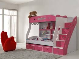 Bedroom:Modern Kids Bedroom Bunk Bed Idea With Metal Ladder And Safety  Guardrail Mesmerizing Little