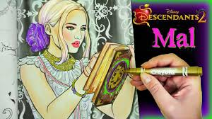 Disney Descendants 2 Color Mal And Her Spell Book Wickedly Cool