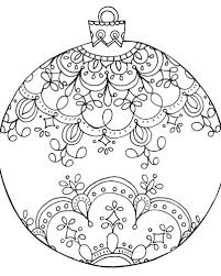 Christmas Ornaments Coloring Pictures Printable Pages Ornament And