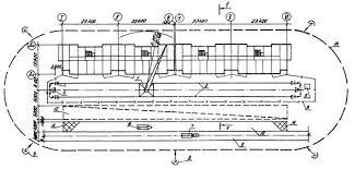 Типовая технологическая карта Типовая  1 башенный кран КБ 405 1Б 2 подкрановый путь 3 ограждение кранового пути 4 контур заземления 5 контрольный груз 6 полуприцеп панелевоз