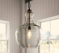 Lighting next Copper Three Pendant Scroll To Next Item Decoist Flynn Oversized Recycled Glass Pendant Pottery Barn