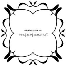 ナチュラルな四角フレーム枠 無料商用可能枠フレーム素材