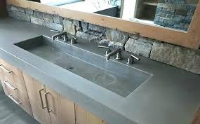 concrete bathroom vanity s sink countertop overlay