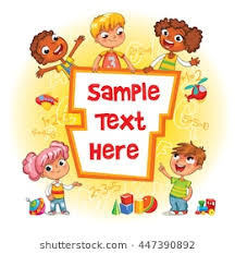 children book cover template for advertising brochure ready for your message children look