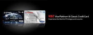 home view all cards kbz visa credit card