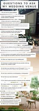 questions to ask my wedding venue by allyson vinzant events it s a great idea to send this via email to potential venues or ask this