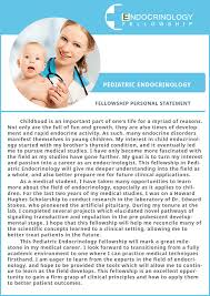 Pediatric Type of Endocrinology Fellowship Personal Statement     Endocrinology Fellowship