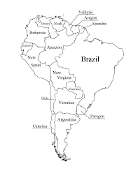 Outline Map Of South America Printable With Blank North And For New