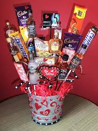 valentine basket ideas gift basket ideas with candy chocolate valentine bouquets for him google search valentines valentine basket