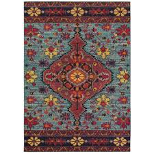 sphinx oriental weavers area rugs bohemian rugs 8222l traditional blue medallion rugs rugs by pattern free at powererusa com