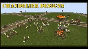 Minecraft Chandelier Design Minecraft Tutorial Chandelier Designs