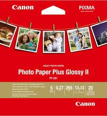 <b>Фотобумага Canon Photo Paper</b> Plus Glossy II, 265g, 13x13 (20 ...