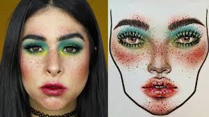 Milk1422 Face Chart Recreation Sara Emiliani
