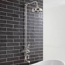 bathroom shower heads. Crosswater Belgravia Exposed Thermostatic Bath Shower Valve With Fixed Head \u0026 Spout Bathroom Heads H