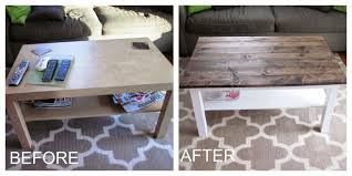 it s a long story coffee table makeover wood plank table