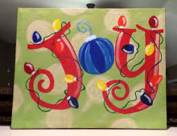 Christmas Paintings On Canvas Easy Ideas In Home 20