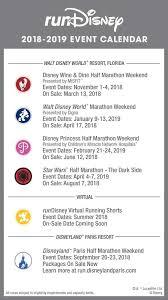 Event Calendar Unique RunDisney 4444 Event Calendar Released RunDisney 4444