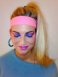 eighties makeup by me