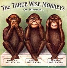 Image result for IMAGE THREE WISE MONKEYS.