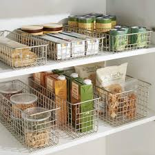 wire baskets for pantry amazing 83 examples essential shelf organizer metal storage rack roll out with 13