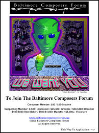 flyers forum flyers posters dawn c culbertsonbaltimore composers forum