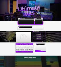 Soundclick Website Design Ultimate Hits Soundclick Design On Behance