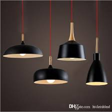 wholse tom dixon pendant lamp creative diy aluminum wood pendant lights black white restaurant bar chandeliers light lights outdoor pendant lights