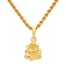 ganesha 22kt gold pendant waman hari