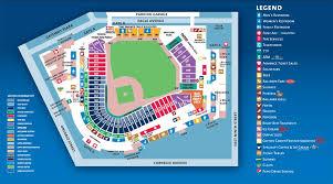 Progressive Field Fan Map Main Level Cleveland Indians