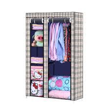 full image for 10545175cm closet organizer storage rack portable clothes hanger home garment shelf rod cloth
