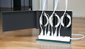 hide cable on floor quirky plug hub power cable organizer hide cable cords  floor