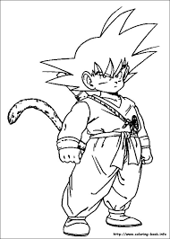 dbz coloring book in good dragon ball z pages on extraordinary dragonball