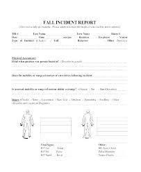Property Damage Report Form Template Injury Incident