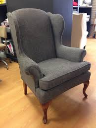 reupholstered wing back chair work by custom covers exeter on customcoversontario ca s upholstery and slipcovers