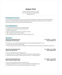 Coaching Resume Samples Cool Successful Resume Template Basketball Coach Resume Most Successful