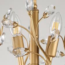 60cm height 45cm wide modern contemporary 7 light chandelier lamp for living room dining