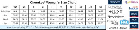 70 Circumstantial Cherokee Scrubs Colors Chart