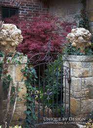Stone Entry Gate Designs Beautiful Entry Gate With Stone Columns By Unique By