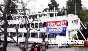 Dion Cini Strikes Again Unfurls Trump 2020 Banner On Disneylands