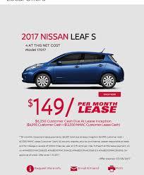 leaserank in ca 34 out of 53 2017 nissan leaf s 4dr hatchback contact dealer