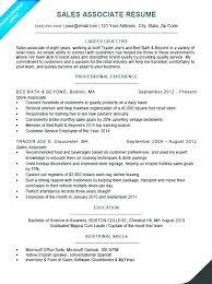 Resume Objective Sales Associate Extraordinary Sales Associate Resume Examples Mkma