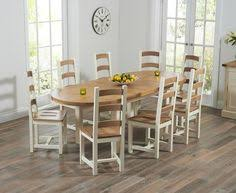 cream compact extending dining table: chelsea oak amp cream extending dining table with marlow chairs